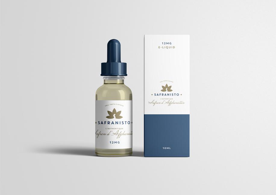 Création packaging e-liquide safrané
