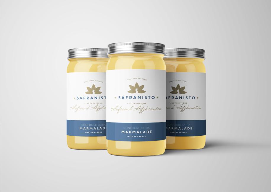 Création packaging marmelade safran.