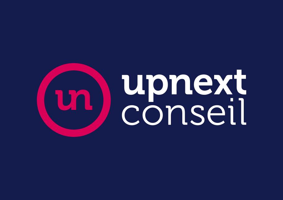 Upnext Conseil Branding - Création logo et charte graphique