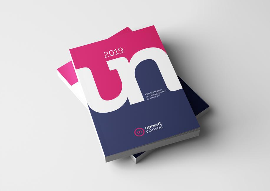 Upnext Conseil Branding - Création couverture rapport