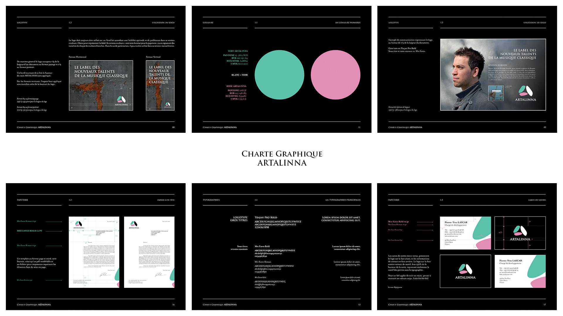 Charte graphique Artalinna