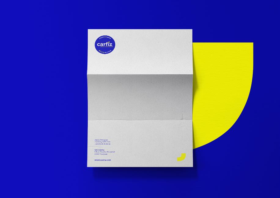 Création papier à en-tête Carfiz - Branding