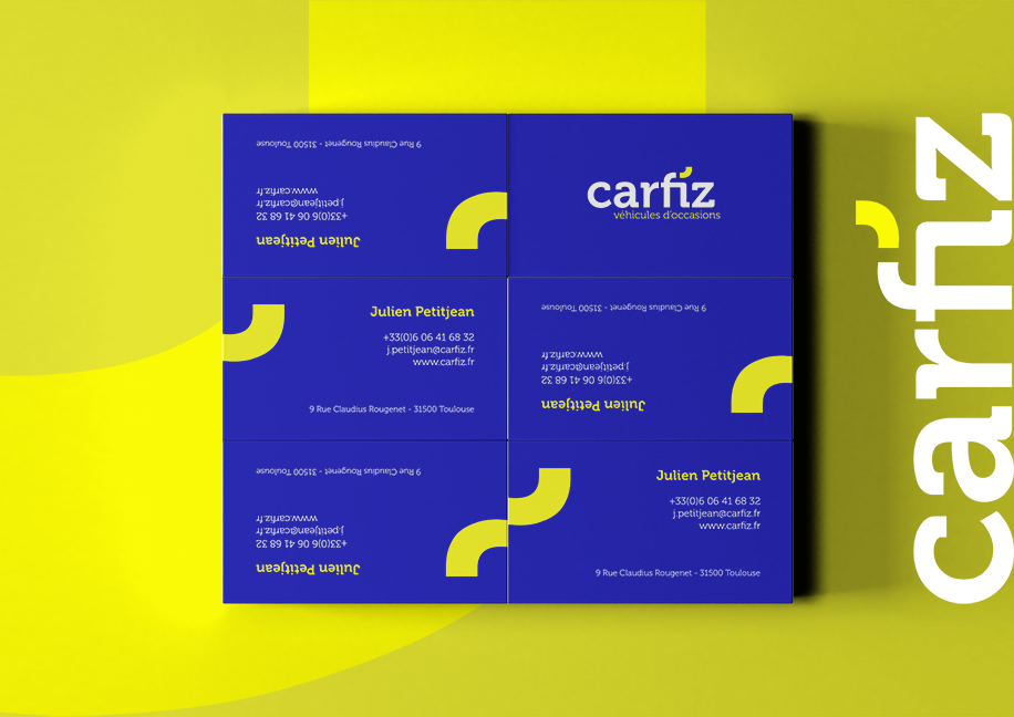 Création Carte de Visite Carfiz - Branding