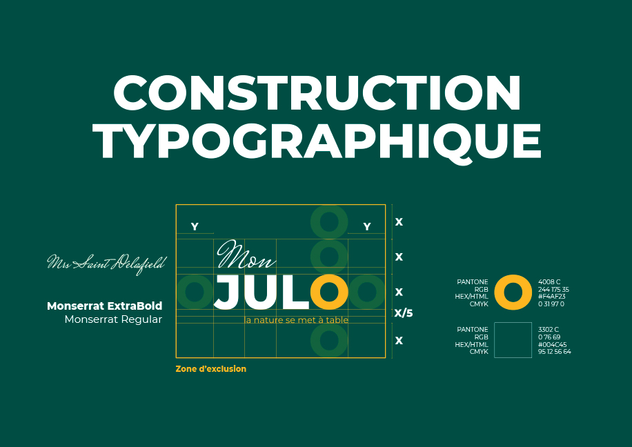 Construction Typographique Création Logo Mon Julo - Branding