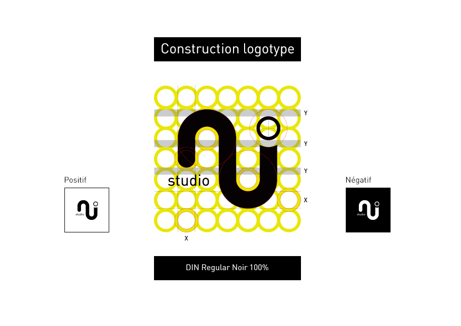 Construction Logotype NJ Studio - Branding