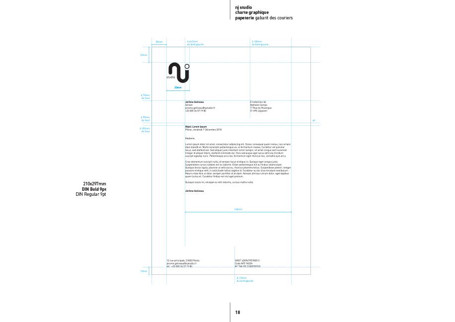 Création Papeterie NJ Studio - Branding
